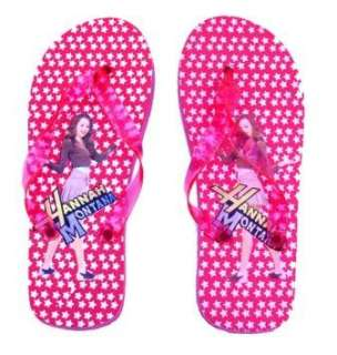 Red Hannah Montana Girls Flip Flop Slippers Clothing