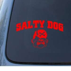 DOG   Vinyl Car Decal Sticker #1296  Vinyl Color Red Automotive