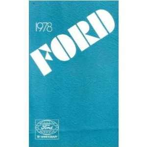 1978 FORD LTD Owners Manual User Guide Automotive