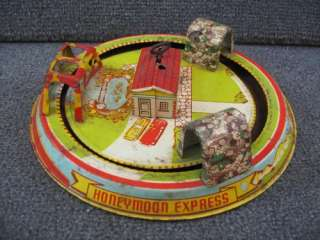 Marx Honeymoon Express Train 1930s Wind Up Tin Toy Vintage Metal Louis