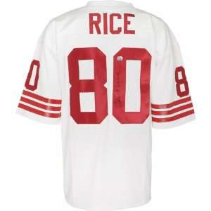 Jerry Rice Autographed Jersey  Details White, Custom