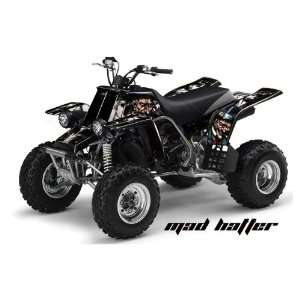 AMR Racing Yamaha Banshee 350 ATV Quad Graphic Kit   Madhatter Black