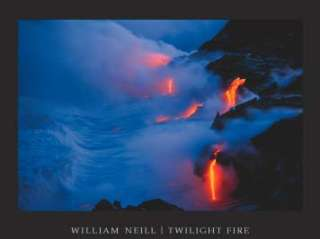 Twilight Fire William Neill Volcano Lava Print Art