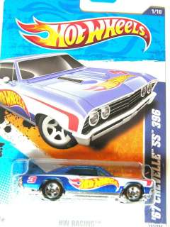Hot Wheels 2011 HW Racing #151 67 Chevelle SS Blue 396