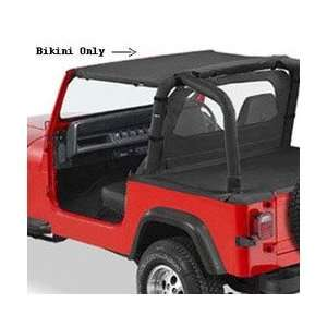 Brief Bikin Top for 1992 1995 Jeep Wrangler   Black Denim Automotive