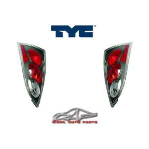 Ford Focus ZX5 Tail Lights Euro Black Taillights 2000 2001