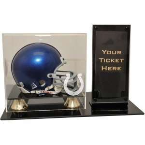 Indianapolis Colts Mini Helmet and Ticket Display Sports