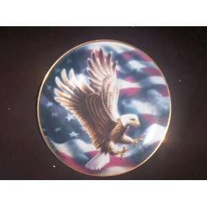 FRANKLIN MINT COLLECTORS PLATE THE AMERICAN EAGLE PLATE