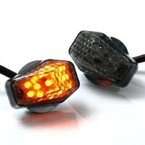 Motorcycle Smoke LED Turn Signals Light For Suzuki GSXR400