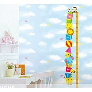 Decor Removable Sticker  Animal Friends Height Measure Growth Chart
