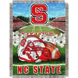 North Carolina State Wolfpack NCAA Woven Tapestry Throw