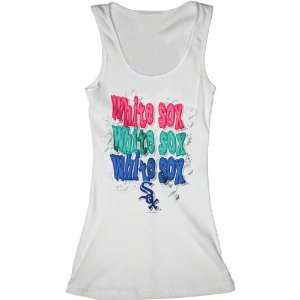 Chicago White Sox White Girls Ribbed Tank Top Sports