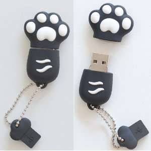 Premium Black Paw USB Flash Memory Drive 16GB
