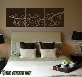 Cherry Blossom Panels Vinyl Wall Decals Stickers 456