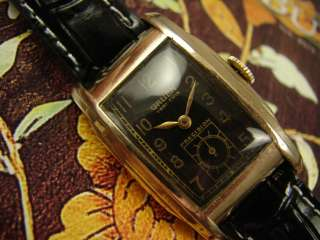 DL GRUEN VERI THIN PRECISION MENS WATCH VINTAGE 1940s LONG ART DECO