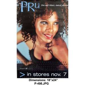 PRU SELF TITLE DEBUT ALBUM 18X27 Poster