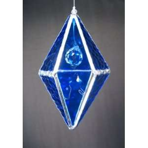 Crystal Ball Glass Prism   Cobalt Blue Stained Glass