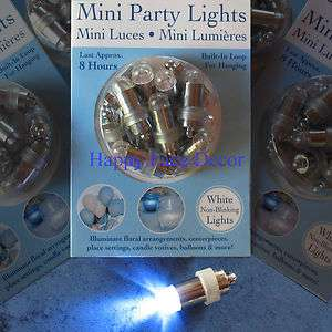 LED Party Lights white WEDDING Paper Lanterns, Balloons, Floral