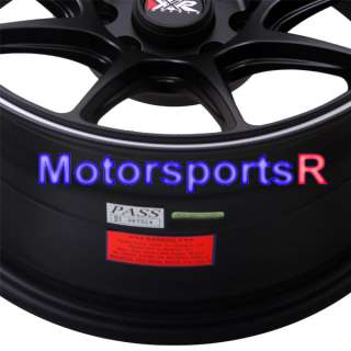 15 8 XXR 527 Black White Stripe Rims 4x114.3 4x4.5 AE86