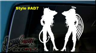 ANGEL DEVIL CRAWLING VINYL DECAL STICKER SO CAL SKIN