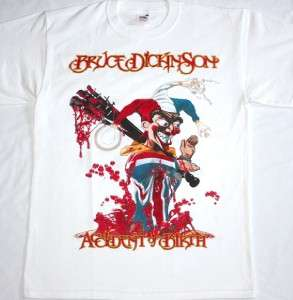 BRUCE DICKINSON ACCIDENT AT BIRTH IRON MAIDEN SAMSON METAL NEW WHITE T