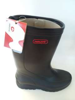 Holey Soles All Weather Rubber RAIN WORK BOOTS Shoes Black Mens 9
