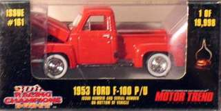 100 die cast pickup truck racing champions mint series issue 161 never