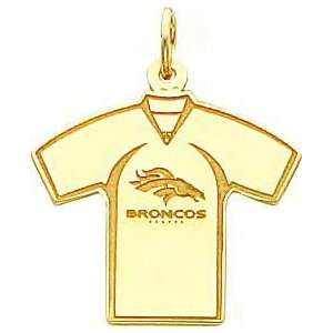 14K Gold NFL Denver Broncos Football Jersey Charm Sports