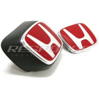 JDM Honda 05 06 Acura RSX DC5 Type R Red H Emblems Badges GENUINE NEW