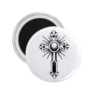 Tattoo Cross Black Art Fridge Souvenir Magnet 2.25 Free