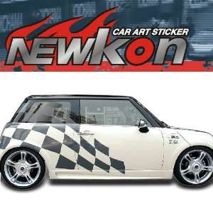 AUTO CAR BODY GRAPHICS SILVER DECAL STICKER BMW MINI