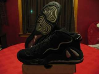 Nike Air Max Uptempo 97 Mens black/silver/red basketball shoes size 10