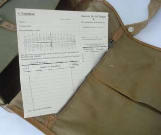 WWII ORIGINAL GERMAN ARMY MEDIC FIRST AID BAG w/EQUIPMENT V.RARE