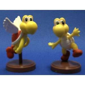 Bros Figure Mini Koopa Troopa RED Paratroopa Set