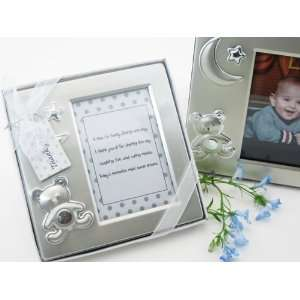 Teddy Bear Dreams Brushed Photo Frame in Gift Box