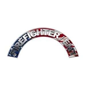 Firefighter EMT American Flag Firefighter Fire Helmet Arcs