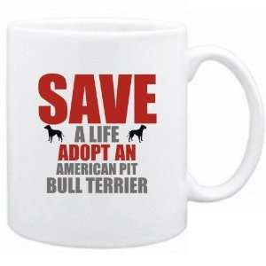 New  Save A Life , Adopt A American Pit Bull Terrier  Mug Dog