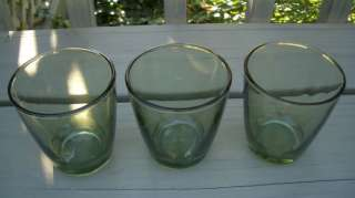 AVOCADO GREEN DEPRESSION Glass 3 1/2 ROCK TUMBLER (s)