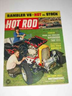 Hot Rod Magazine April 1963 Rambler V8 Hot vs Stock