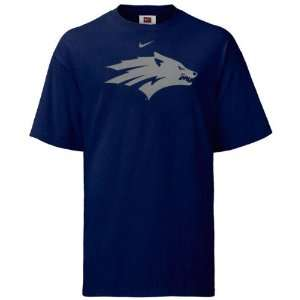 Nevada Wolf Pack Nike Navy Classic Logo Tee Sports
