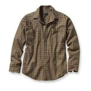 Patagonia Mens Pima Cotton Long Sleeve Shirt Mcadams/Retro Khaki (L
