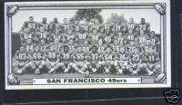 1968 Topps Football Test Team San Francisco 49ers