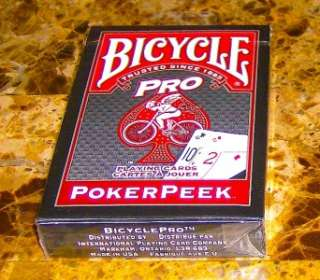 BICYCLE BRAND PRO POKER PEEK RED PLAYING CARDS BRAND NEW SEALED BOX