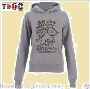 Soft Kitty   Big Bang Theory Sheer Womens Grey Fitted Hoody