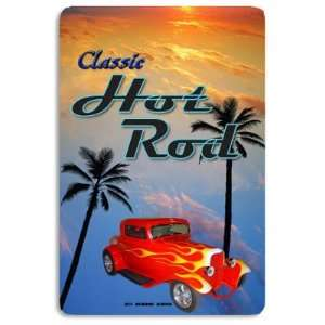 Seaweed Surf Co AA98 12X18 Aluminum Sign Classic Hot Rods