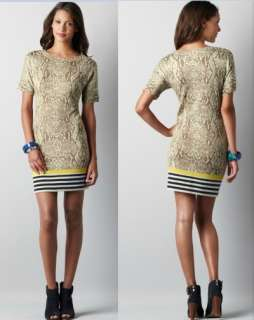 Ann Taylor Loft Snake Print Colorblock Sweater Dress Size XS,S,M