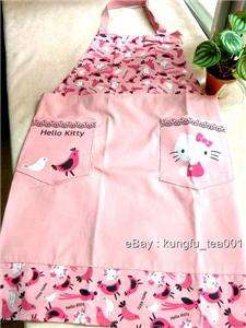 Hello Kitty & Bird Pattern Kitchen Apron Cooking Dress