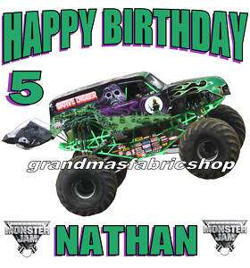 Grave Digger Monster Truck Personalized Birthday Shirt