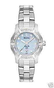 New Ladies Bulova Marine Star Diamond Watch 96R109