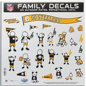 Pittsburgh Steelers NFL Family Car Decal Set (Large)